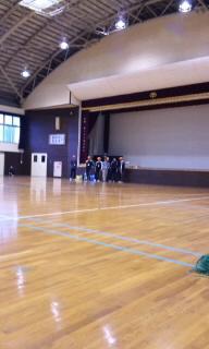 今日は村の球技大会